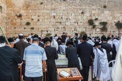 Multidão enorme de judeus fiéis Imagem de Stock