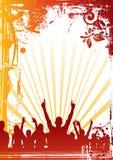 Multidão floral do partido ilustração do vetor