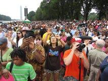 Multidão grande na celebração do aniversário Fotografia de Stock Royalty Free