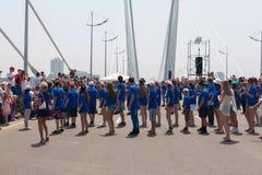 Multidão instantânea da dança. Foto de Stock Royalty Free
