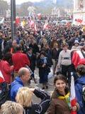 Multidão internacional dos povos Imagem de Stock