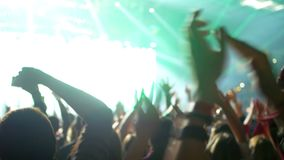 Multidão móvel do concerto vídeos de arquivo