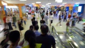 Multidão na alameda de compra Foto de Stock
