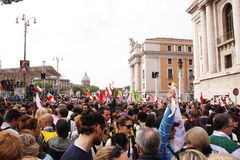Multidão na igreja do st peter Foto de Stock Royalty Free