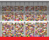 Multidão no anfiteatro do estádio Imagem de Stock