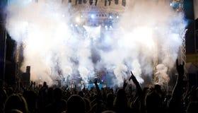 Multidão no concerto Imagem de Stock