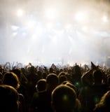 Multidão no concerto Foto de Stock