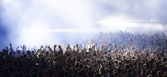 Multidão no concerto imagens de stock royalty free