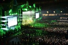 Multidão no concerto Imagens de Stock