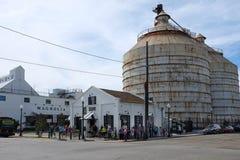 Multidão nos silos Balery Waco Texas foto de stock