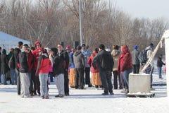 Multidão polar do mergulho de Nebraska dos Jogos Paralímpicos imagens de stock royalty free