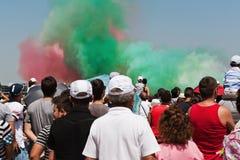 Multidão que olha um festival aéreo Foto de Stock Royalty Free