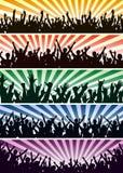 Multidões do concerto Fotos de Stock Royalty Free