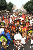 Multidões no carnaval de Notting Hill Fotos de Stock Royalty Free