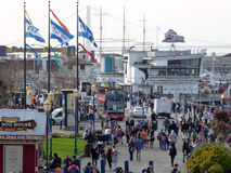 Multidões em San Francisco Pier 39 Imagens de Stock