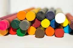 Multidiekleurenpastelkleur samen met ruimte voor tekst wordt gestapeld royalty-vrije stock fotografie