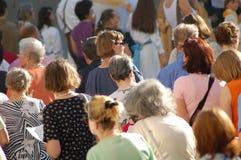Multidão das mulheres Imagens de Stock