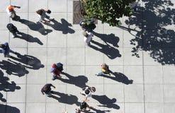 Multidão de acima Foto de Stock Royalty Free