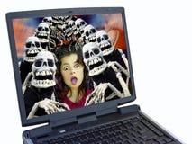 Multidão de Halloween Fotografia de Stock Royalty Free