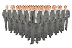 A multidão de negócio clona a colagem Imagens de Stock Royalty Free