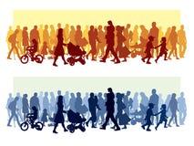Multidão de povos Foto de Stock