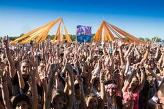 Multidão de povos borrados Foto de Stock Royalty Free