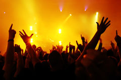 Multidão do concerto Foto de Stock Royalty Free