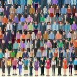 Multidão enorme de povos Fotografia de Stock Royalty Free