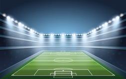 Multidão entusiasmado de povos em um estádio de futebol Imagem de Stock