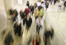 Multidão movente Imagens de Stock Royalty Free