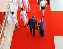 Multidão movente Imagem de Stock