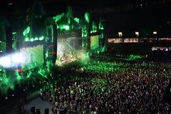 Multidão no concerto Foto de Stock Royalty Free