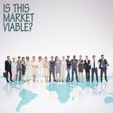 Σύνθετη εικόνα των multiethnic επιχειρηματιών που στέκονται δίπλα-δίπλα Στοκ Φωτογραφίες