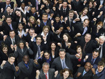 Multiethnic Business Group Cheering Royalty Free Stock Photo