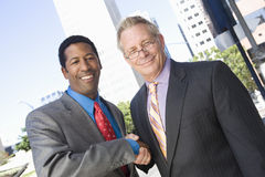Multiethnic Business Partners Shaking Hands Royalty Free Stock Photos