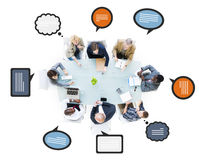Multiethnic Business People Discussing in a Meeting Royalty Free Stock Image