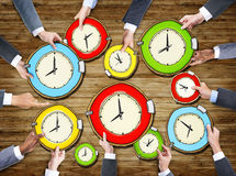 Multiethnic of Business People with Time Concept Stock Image