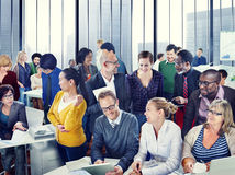 Multiethnic Business People Working in the Office Stock Photography