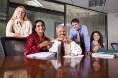 Multiethnic business team Stock Image