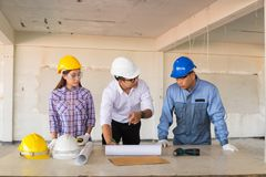 Multiethnic Business Team Engineer Diverse Group working or Disc Stock Photos