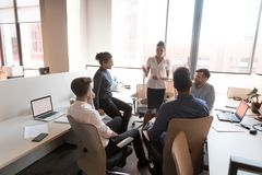 Free Multiethnic Business Team People Communicating At Corporate Group Briefing Royalty Free Stock Photos - 160754518