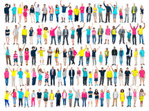 Multiethnic Casual People Togetherness Celebration Arms Raised C Royalty Free Stock Photography