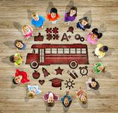 Multiethnic Children with Back to School Concept Royalty Free Stock Image
