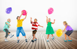 Multiethnic Children Balloon Happiness Friendship Concept Royalty Free Stock Image