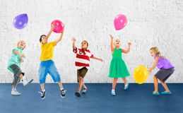Multiethnic Children Balloon Happiness Friendship Concept Royalty Free Stock Photo
