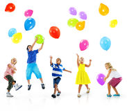 Multiethnic Children Balloon Happiness Friendship Concept Royalty Free Stock Photography