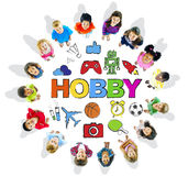 Multiethnic Children Forming a Circle with Hobby Concept Royalty Free Stock Photography