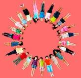 Multiethnic Children Smiling Happiness Friendship Concept Stock Photos
