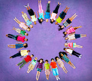 Multiethnic Children Smiling Happiness Friendship Concept Stock Photo