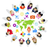 Multiethnic Children with World Concepts Stock Image